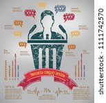 business info graphic vector... | Shutterstock .eps vector #1111742570