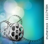 film stripe or film reel on... | Shutterstock .eps vector #111174584