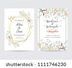 geometry gold wedding...   Shutterstock .eps vector #1111746230