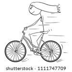 cartoon stick drawing... | Shutterstock .eps vector #1111747709