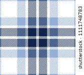 Blue And White Tartan Plaid...