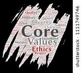 vector conceptual core values... | Shutterstock .eps vector #1111749746