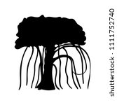 silhouette liana creeper icon... | Shutterstock .eps vector #1111752740
