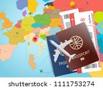 world travel concept. vector... | Shutterstock .eps vector #1111753274