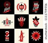 modern isolated craft beer...   Shutterstock .eps vector #1111759556