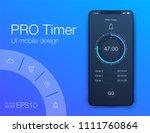 timer clock application ui...