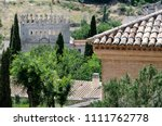 castle in toledo old town in... | Shutterstock . vector #1111762778