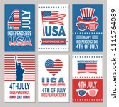 usa independence day cards.... | Shutterstock .eps vector #1111764089