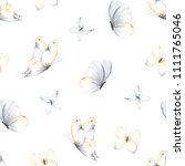 pattern with flying gentle... | Shutterstock .eps vector #1111765046