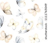 pattern with flying gentle... | Shutterstock .eps vector #1111765049