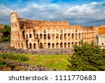 aerial scenic view of colosseum ... | Shutterstock . vector #1111770683