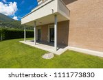 exterior of house with green... | Shutterstock . vector #1111773830
