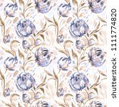 abstract flowers  seamless...   Shutterstock . vector #1111774820