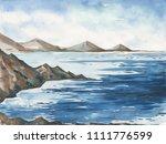 ocean landscape  sea side ...   Shutterstock . vector #1111776599