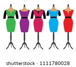 dresses on stands for dummies | Shutterstock .eps vector #1111780028