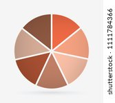 vector circle for infographic... | Shutterstock .eps vector #1111784366