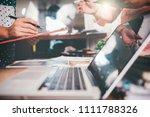business team meeting. photo...   Shutterstock . vector #1111788326