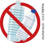 no plastic bottles | Shutterstock .eps vector #1111788956