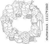 coloring book frame. set of...   Shutterstock .eps vector #1111791860