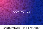 contact us banner. design... | Shutterstock .eps vector #1111793900