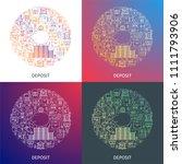 bank deposit concept. design... | Shutterstock .eps vector #1111793906