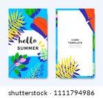 hello summer invitation card... | Shutterstock .eps vector #1111794986