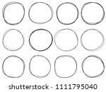 doodle circles isolated on... | Shutterstock .eps vector #1111795040
