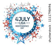 fourth of july background with...   Shutterstock .eps vector #1111798496