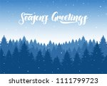 vector winter christmas forest... | Shutterstock .eps vector #1111799723