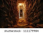 Narrow Tunnel In The Wall Of A...