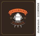 grill restaurant logo design... | Shutterstock .eps vector #1111800068