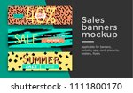 set of three different sale... | Shutterstock .eps vector #1111800170