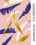 vector summer palm tree print....   Shutterstock .eps vector #1111800533