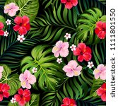 tropical vector seamless... | Shutterstock .eps vector #1111801550