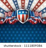 american patriotic background...   Shutterstock .eps vector #1111809386