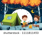 vector illustration of kids... | Shutterstock .eps vector #1111811453