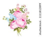 the rose elegant card. a spring ...   Shutterstock .eps vector #1111812899