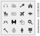modern  simple vector icon set...   Shutterstock .eps vector #1111813010