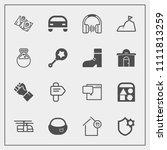 modern  simple vector icon set...   Shutterstock .eps vector #1111813259