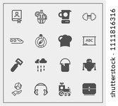 modern  simple vector icon set... | Shutterstock .eps vector #1111816316