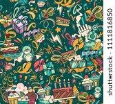 birthaday background. cartoon...   Shutterstock .eps vector #1111816850
