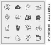 modern  simple vector icon set... | Shutterstock .eps vector #1111818533