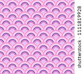 beautiful pink snake skin... | Shutterstock .eps vector #1111819928