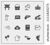modern  simple vector icon set...   Shutterstock .eps vector #1111820273