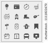 modern  simple vector icon set...   Shutterstock .eps vector #1111822670