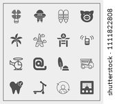 modern  simple vector icon set... | Shutterstock .eps vector #1111822808