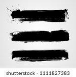 set of three black grunge...   Shutterstock . vector #1111827383