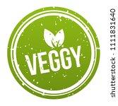 green veggy badge   vegan...   Shutterstock .eps vector #1111831640
