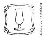 grunge emblem with cocktail... | Shutterstock .eps vector #1111834433