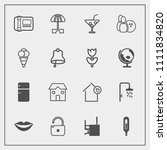 modern  simple vector icon set...   Shutterstock .eps vector #1111834820